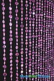 Diamante Duo Beaded Curtain - Pink Iridescent - 3 ft x 6 ft