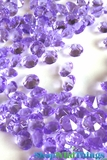 Diamond Confetti - 2000 pcs - 1 Carat (6.5mm) - Lavender Acrylic Diamonds
