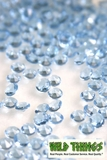 Diamond Confetti - 2000 pcs - 1 Carat (6.5mm) - Light Blue Acrylic Diamonds