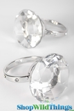 Diamond Napkin Rings, Set of 2 - Fancy Crystals on Sides