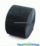 "Diamond Wrap Rolls - Black - 4"" Wide x 30 ft Long (10 Yards) - Trimmable!"