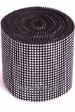 "Diamond Wrap Rolls Black & Silver 4""Wide x 30 ftLong"