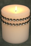 "Diamond Wrap Rolls - BLACK & SILVER Single Row, 30 ft Long! 1/4"" Beads - Trimmable!"