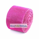 "Diamond Wrap Rolls Fuchsia Pink 4"" Wide x 30"" Long"
