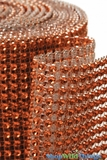 "Diamond Wrap Rolls Orange 4"" Wide x 30' Long"