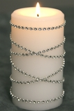 "Diamond Wrap Rolls - SILVER Single Row, 60 ft Long! 1/8"" Beads - Trimmable!"