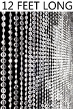 Diamonds Beaded Curtains - Crystal Non-Iridescent - 3 ft x 12 ft