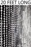 Diamonds Beaded Curtain - Crystal Non-Iridescent - 3' x 20'