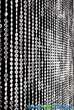 Diamonds Crystal Beaded Curtain - Crystal Non-Iridescent - 3 ft x 6 ft