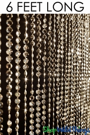 Coming Soon - Diamonds Beaded Curtains - Gold - 3 ft x 6 ft Weddings and Events!