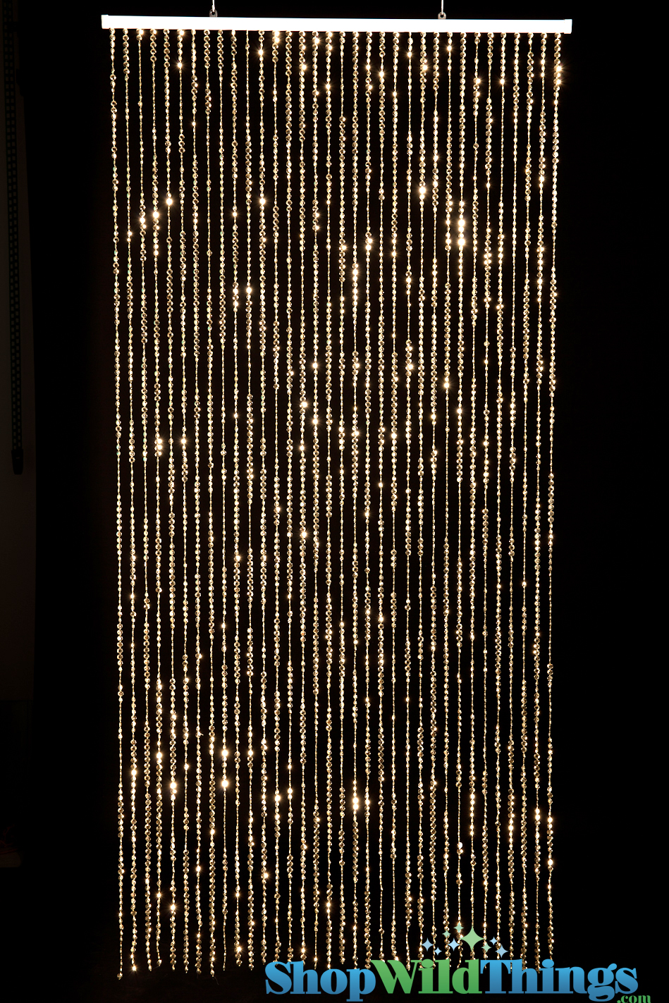 light gold diamonds beaded curtain gold backdrops