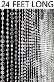 Diamonds Beaded Curtain - Crystal Non-Iridescent - 3 ft x 24 ft