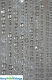 Diamonds Beaded Curtains - Smoke Gray Non-Iridescent - 3 ft x 6 ft