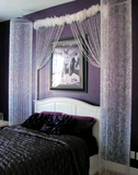 Diamonds Beaded Curtains and Columns - Bedroom Transformation