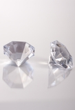 "Diamonds Bulk - Large 1.25"" - Bag of 58 Pcs - Clear - Sasha"