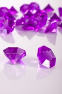 "Diamonds Bulk - Large 1.25"" - Bag of 58 Pcs - Purple -""Sasha"""