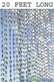 Diamonds Beaded Curtain - Crystal Iridescent - 3' x 20' - as low as $94.99