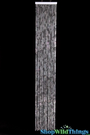 Diamonds Beaded Curtain - Double Density Crystal Iridescent - 1 ft x 6 ft