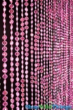 Diamonds Beaded Curtain - Pink Iridescent - 3 ft x 6 ft