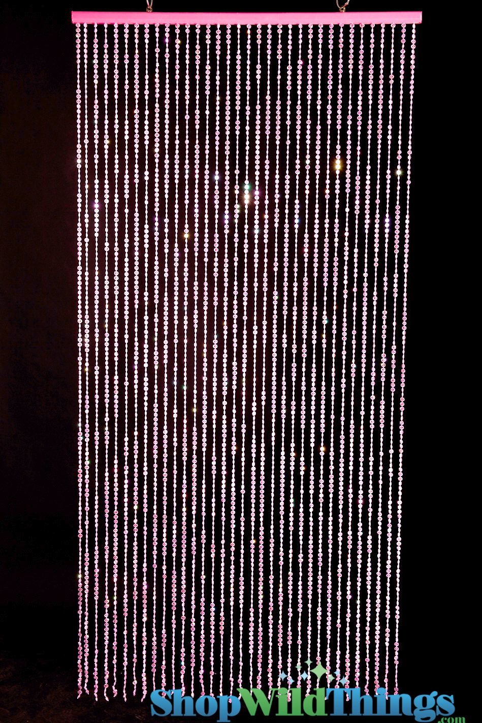 Beaded Curtains Pink Pink Diamonds Curtain Pink