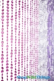 Diamonds Beaded Curtains - Pinks N Purples - 3 ft x 6 ft