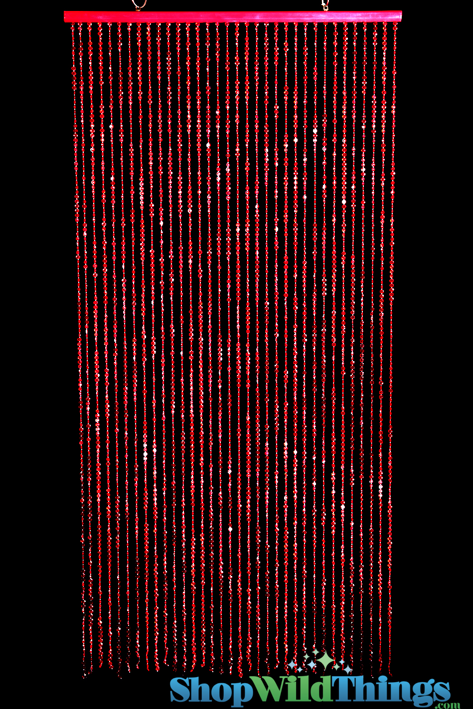 Red beaded curtain acrylic red diamonds beads red strands of beads