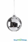 "Disco Ball Ornament 4"" Shiny Silver"
