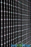 Disco Balls Small Bead Beaded Curtain - Crystal Iridescent - 3 ft x 6 ft