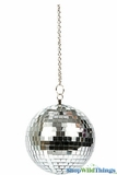 "Disco Mirror Ball 5"" w/Chain"