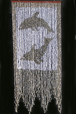 Dolphins Real Shell Beaded Curtain With 60 Strands