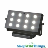 Acolyte E-Wall Wash Super Bright 12 SMT LED Event Light - Battery Operated - Remote Control A/C Adapter Capable