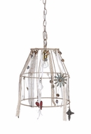 "Embellished Hanging Iron Chandelier 15""H x 12"""