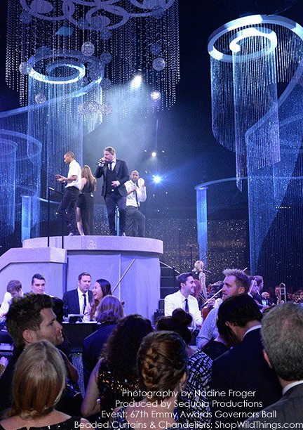 Emmy Awards - Crystal Curtains, Swirl Chandeliers & Sphere Chandeliers