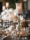 """Candle Holder Stand - """"Katrina"""" Crystal Goblet - 29"""" - Silver with Real Crystals"""