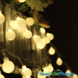 "String Lights - 50 Large Round LED Bulbs - Warm White ""Fairy Lights"""