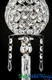 """Beaded Real Crystals Candle Holders - """"Prestige"""" Etched Silver Stem Set of 3"""