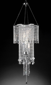 "Clearance -  ""Fantasy"" Real Crystal Chandelier - 14""Lx14""Wx32""H"