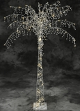 Fantasyland Crystal Beaded & 100 LED Lights Beaded Tree 5' Tall