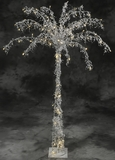 Fantasyland Pearls Beaded & 100 LED Lights Beaded Tree 5' Tall