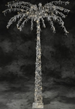 Fantasyland Pearls Beaded & 130 LED Lights Beaded Tree 7' Tall