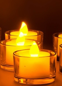 DazzLED Flameless Flickering LED Tea Light Candles - The Best Ever!