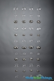 "Floating Glass Ball Strands - Clear and Silver Glass - 48pcs on 4 Strands - Metal Wire - 60"" Long Each"