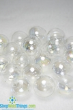 "Floating Glass Balls - Clear Iridescent  ""Champagne"""
