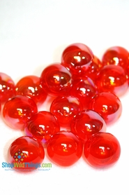 "Floating Glass Balls - Red Iridescent  ""Champagne"""