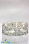 "Floating Glass Candle Holders ""Doughnut"""