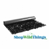 Floral Fabric Sheeting - Black - 3 ft x 30 ft Roll