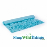 Floral Fabric Sheeting - Light Blue - 3 ft x 30 ft Roll