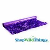 Floral Fabric Sheeting -Metallic Purple -  3 ft x 30 ft Roll