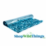 Floral Fabric Sheeting - Metallic Turquoise -  3 ft x 30 ft Roll