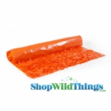Floral Fabric Sheeting - Orange - 3 ft x 30 ft Roll